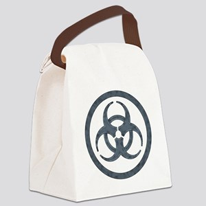 Gray Biohazard Canvas Lunch Bag