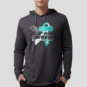 My Best Friend is a Survivor - B Mens Hooded Shirt