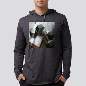 Fitness Gym Dumbells Mens Hooded Shirt