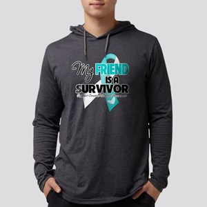 My Friend is a Survivor - Cervic Mens Hooded Shirt