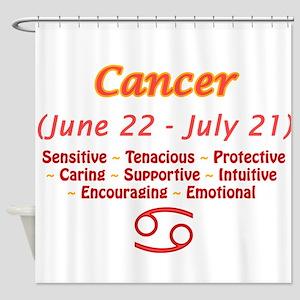 Cancer Description Shower Curtain