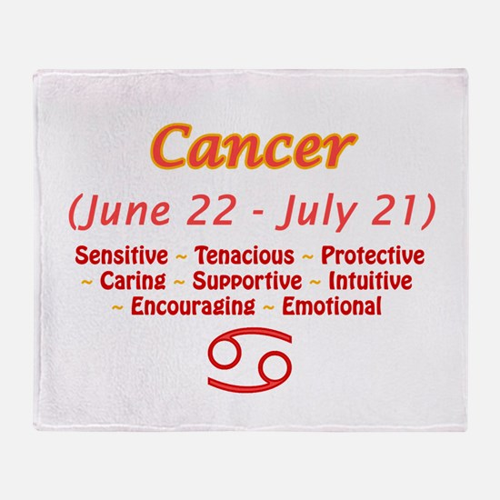 Cancer Description Throw Blanket