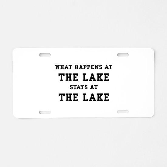 Happens At Lake Aluminum License Plate
