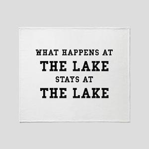 Happens At Lake Throw Blanket