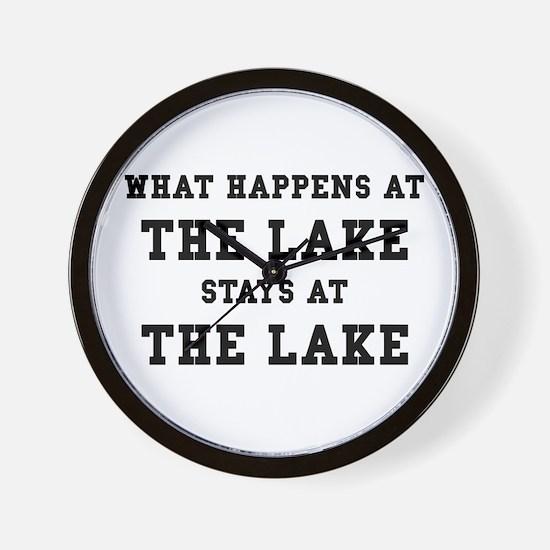 Happens At Lake Wall Clock