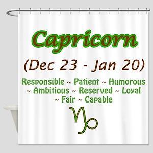 Capricorn Description Shower Curtain