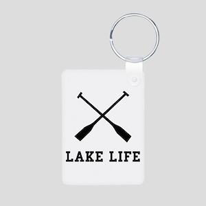 Lake Life Aluminum Photo Keychain