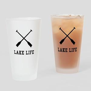 Lake Life Drinking Glass