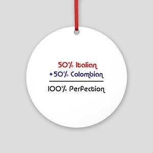 Italian & Colombian Ornament (Round)
