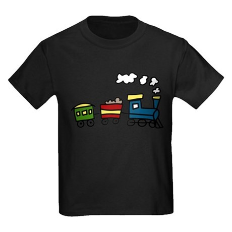 Choo-Choo Train Kids Dark T-Shirt