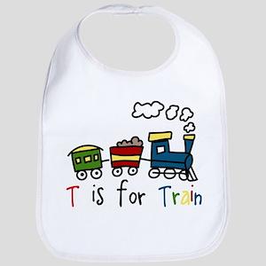 T Is For Train Bib