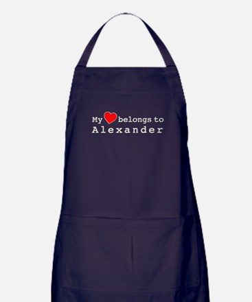 My Heart Belongs To Alexander Apron (dark)