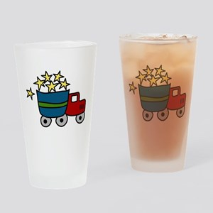 Dump Truck Drinking Glass