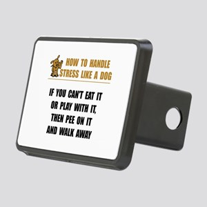 Stress Like Dog Rectangular Hitch Cover