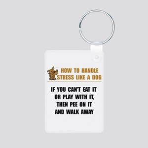 Stress Like Dog Aluminum Photo Keychain
