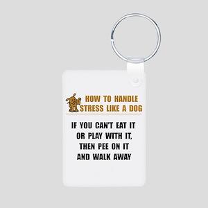 Stress Like Dog Aluminum Photo Keychain