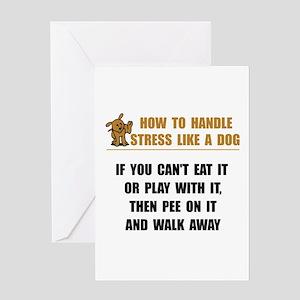 Stress Like Dog Greeting Card