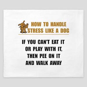 Stress Like Dog King Duvet