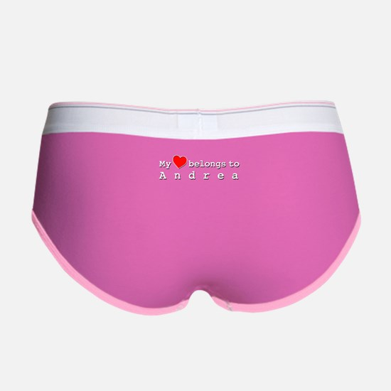 My Heart Belongs To Andrea Women's Boy Brief