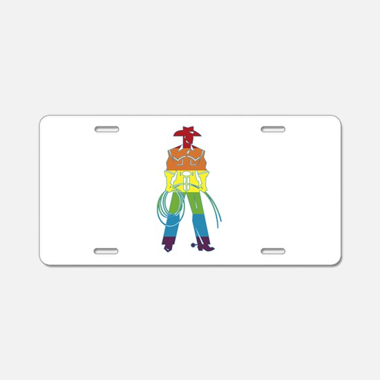 The Gay Cowboy Aluminum License Plate