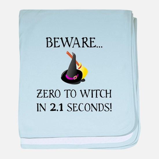 Zero To Witch baby blanket