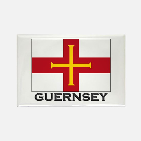 Guernsey Flag Stuff Rectangle Magnet