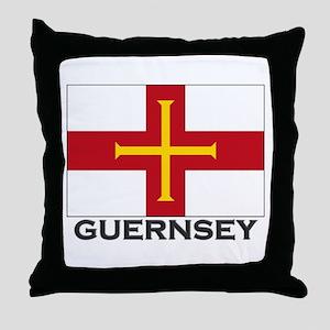 Guernsey Flag Stuff Throw Pillow