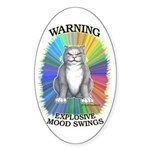 Explosive Mood Oval Sticker