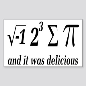 I Ate Some Delicious Pi Math Joke Sticker (Rectang