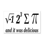 I Ate Some Delicious Pi Math Joke Rectangle Car Ma