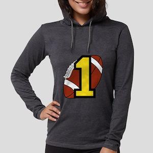 Football Nr 1 Womens Hooded Shirt