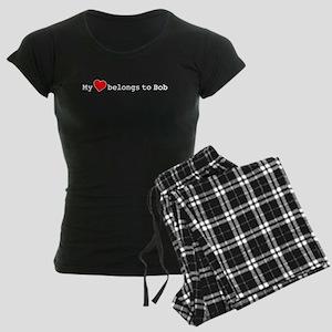 My Heart Belongs To Bob Women's Dark Pajamas