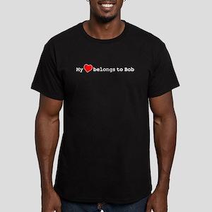 My Heart Belongs To Bob Men's Fitted T-Shirt (dark