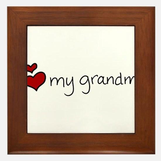 My Grandma Framed Tile