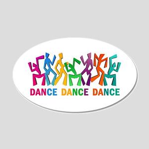 Dance Dance Dance 20x12 Oval Wall Decal