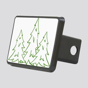 Three Pine Trees Rectangular Hitch Cover