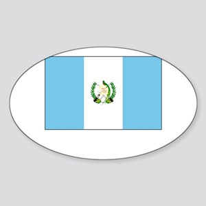 Guatemala Flag Picture Oval Sticker