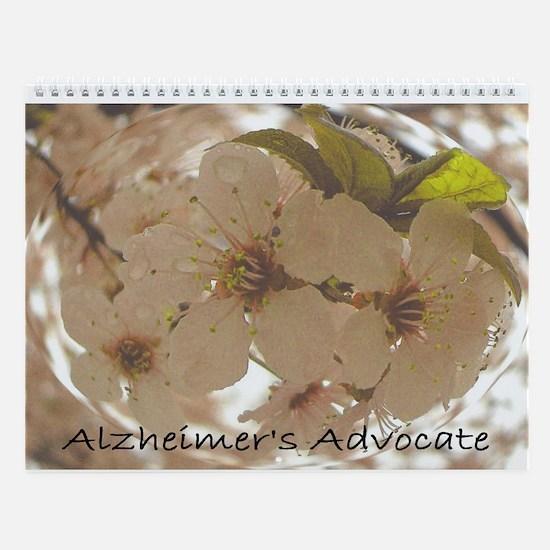 Alzheimer's Floral Annual Wall Calendar