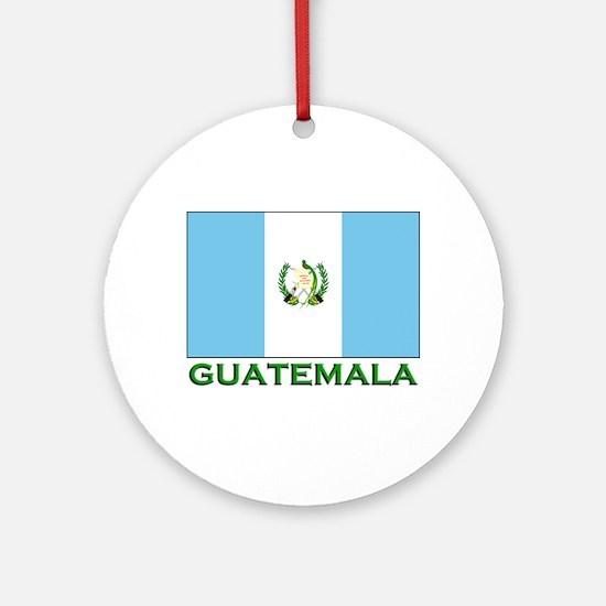Guatemala Flag Stuff Ornament (Round)