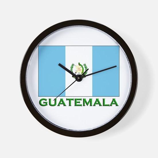 Guatemala Flag Stuff Wall Clock