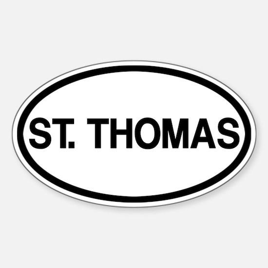 St. Thomas Sticker (Oval)
