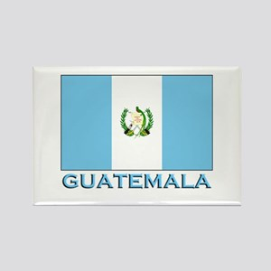 Guatemala Flag Gear Rectangle Magnet
