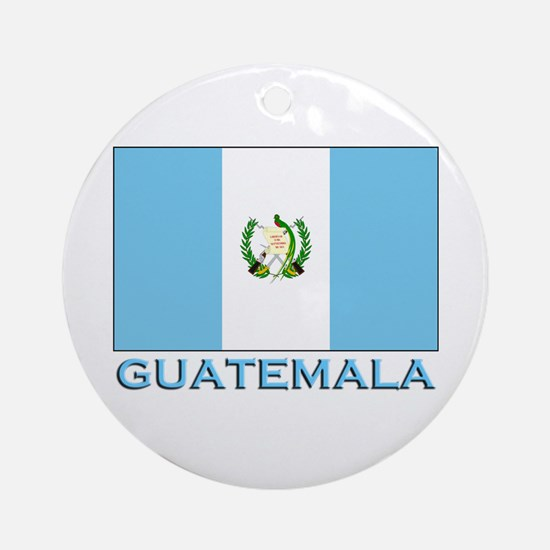 Guatemala Flag Gear Ornament (Round)