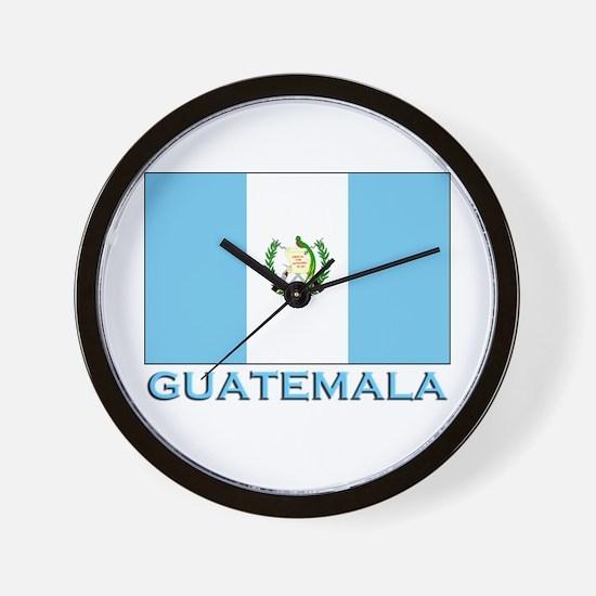 Guatemala Flag Gear Wall Clock