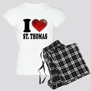 I Heart St. Thomas Women's Light Pajamas