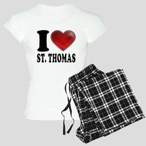 I Heart St. Thomas Women's Light Pajamas