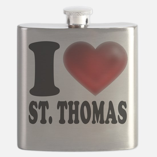 I Heart St. Thomas Flask
