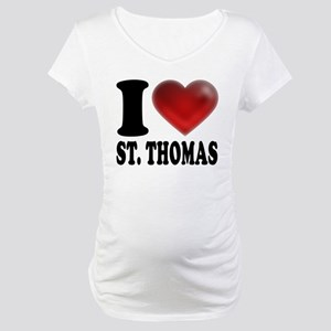 I Heart St. Thomas Maternity T-Shirt