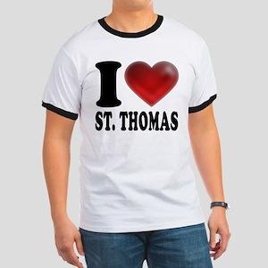 I Heart St. Thomas Ringer T