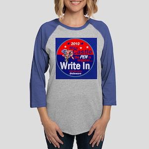 Castle Write In Womens Baseball Tee